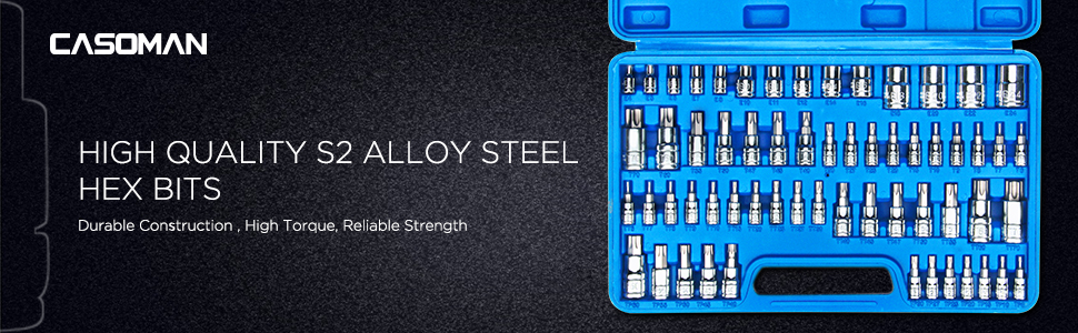 High Quality S2 Alloy Steel Hex Bits