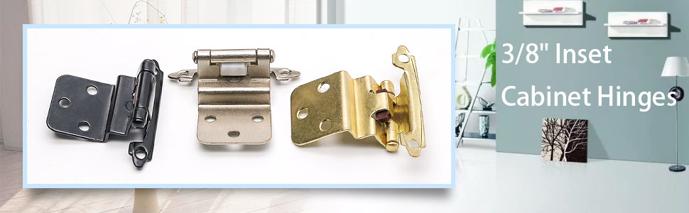 Cabinet hinges brushed brass face mount