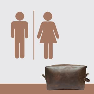 B08GN62Z6X RUBAB MEN Vegan Leather Toiletry Kit SPN FOR-1