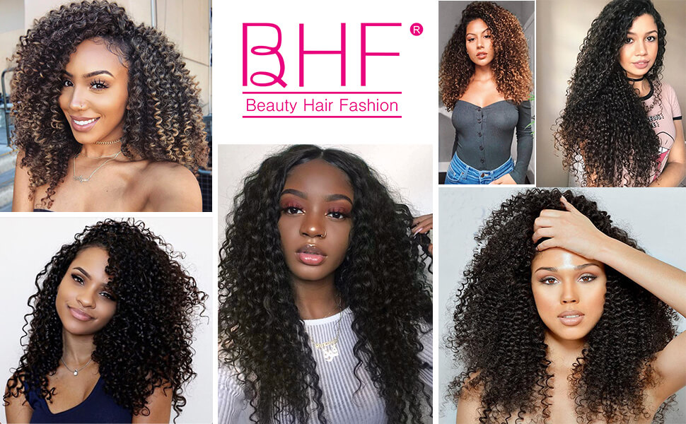 Kinky Curly Clip In Hair Extension Double Weft Full Head Heat Resistance Synthetic Hair Extension