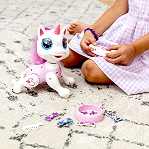 toys robot girls girl robots interactive small toy little remote control unicorn gifts walking kids