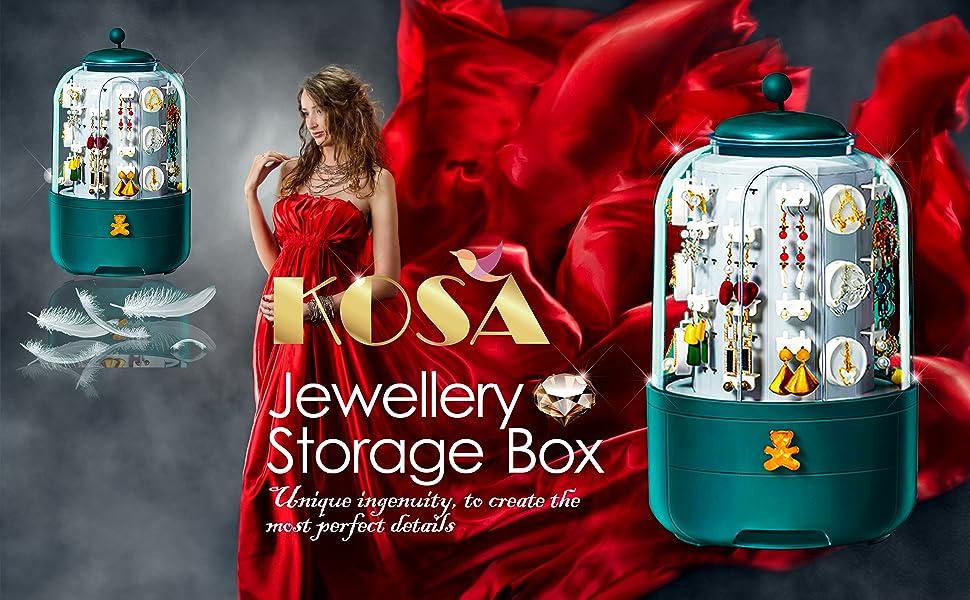 KOSA High-End Fashion Jewellery Earrings Storage Box