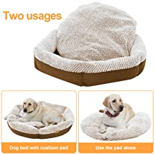 Cat & Dog Bed Cat Cushion Joint-Relief Sleeping Pet Bed Bolster Cat Cushion Cozy Dog Cuddler