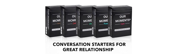 our moments conversation starters for great relationships card board game for families and couples