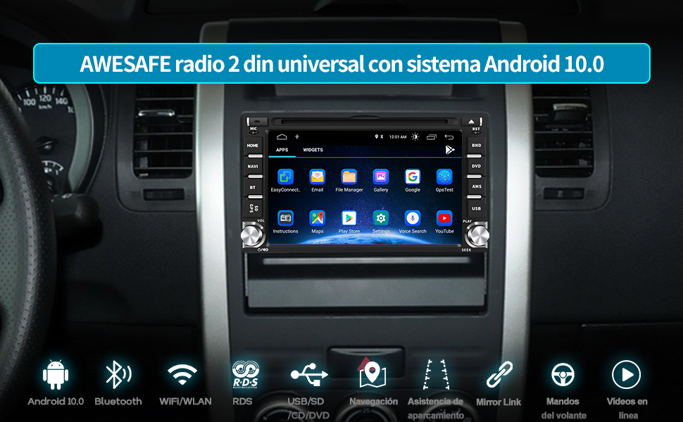 autoradio coche 2 din radio coche 2 din radio navegador 2 din navegador gps 2 din