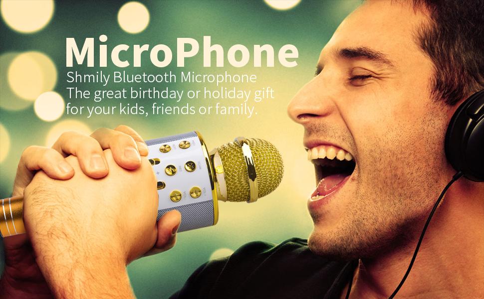 Microphone for Girl Kid, Karaoke Machine for Girls Gift Age 4-12 Children Bluetooth Microphone