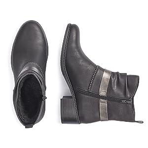 Rieker 76673 Damen Kurzschaft Stiefel: : Schuhe 3kp9J