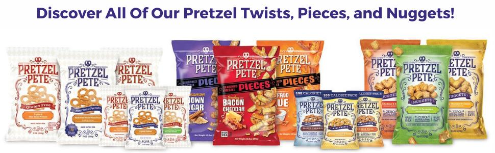 pretzel pete pretzel twists pieces and nuggets variety