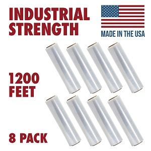 Tough Pallet Shrink Wrap Gauge Industrial Strength Commercial Grade Strength Film