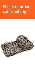 Flame-retardant camo netting