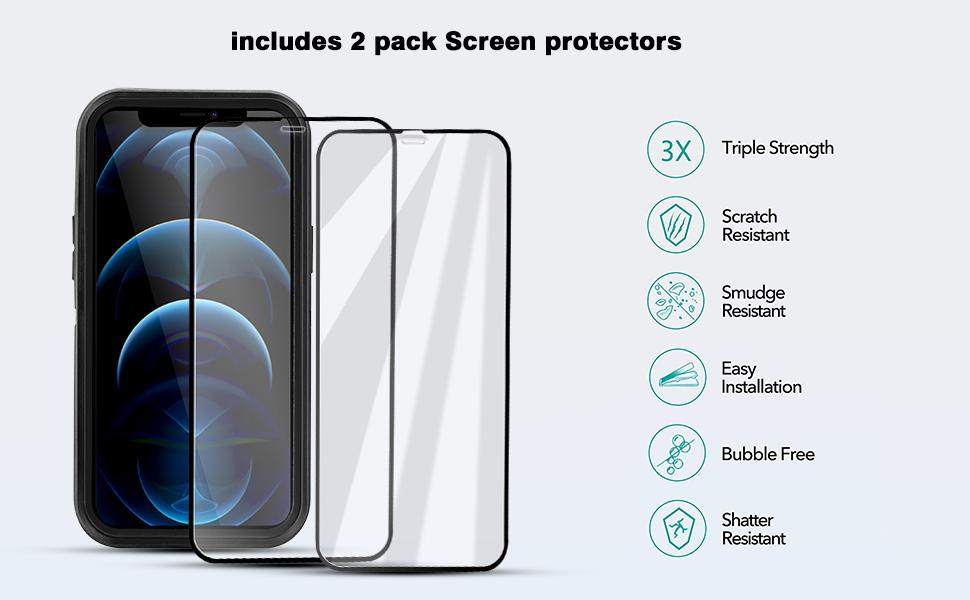 iphone 12 pro max otterbox defender series case iphone 12 pro max otterbox defender black