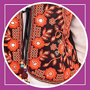Craft Trade Cotton Traditional Embroiderd Handmade Long Kutchi Jacket for Womens/Girl's