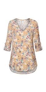 women blouses chiffon tunic shirts floral v neck tunics tops chiffon shirts