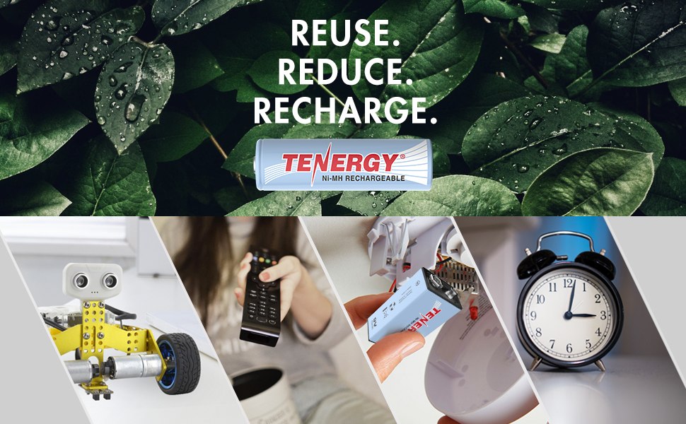 reuse, reduce, recycle, and recharge your batteries for long term savings