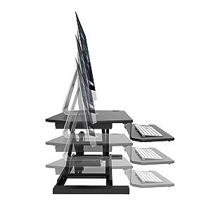 Electric Desk Riser, Standing Desk, Standing Desk Converter, electric standing desk