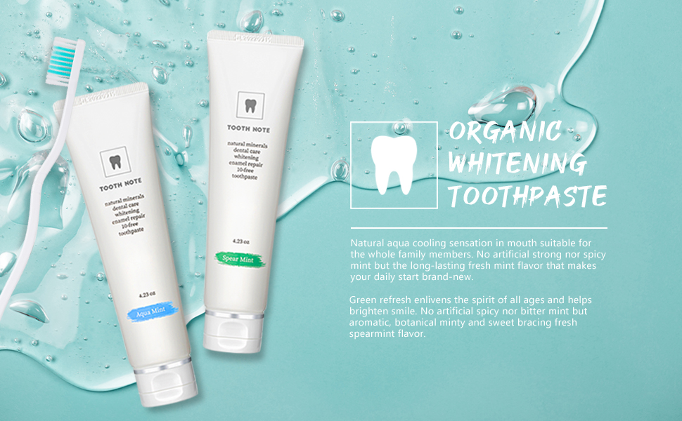 Organic Whitening toothpaste