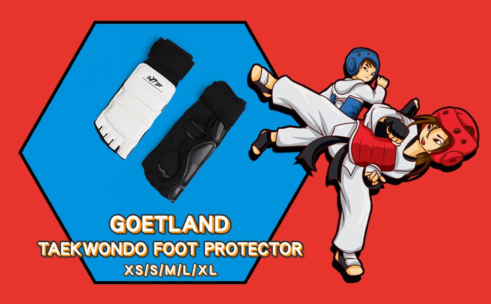 Goetland Taekwondo Foot Protector Gear Martial Arts Fight Boxing Punch Bag Sparring Training
