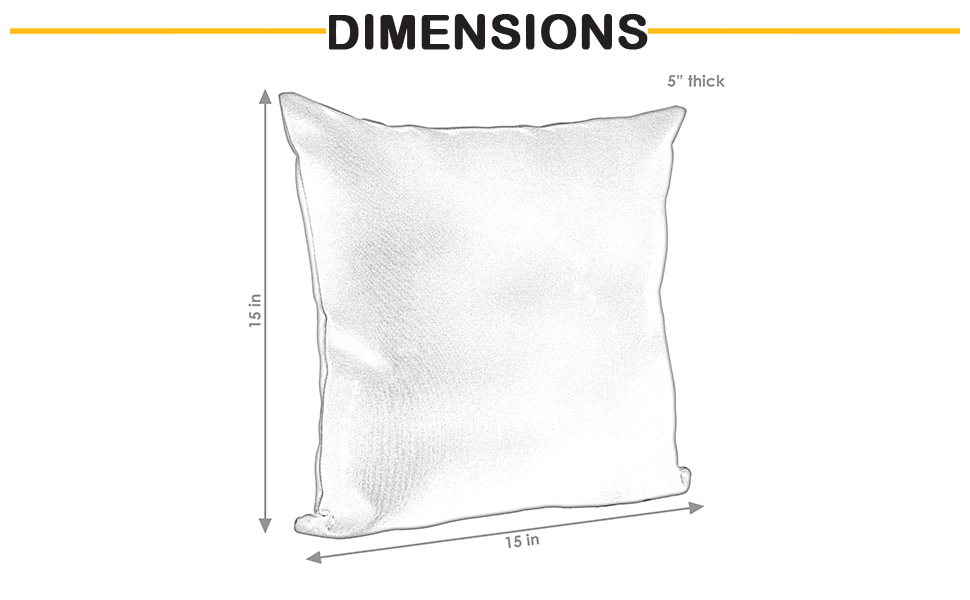 dimensions of pillow