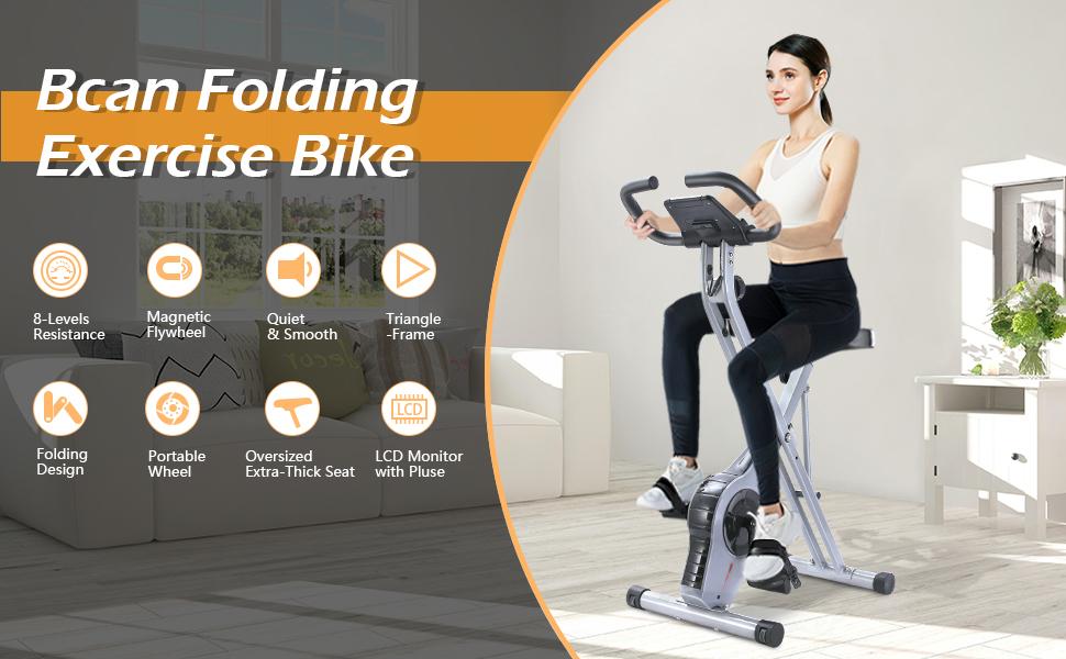 BCAN folding exercise bike