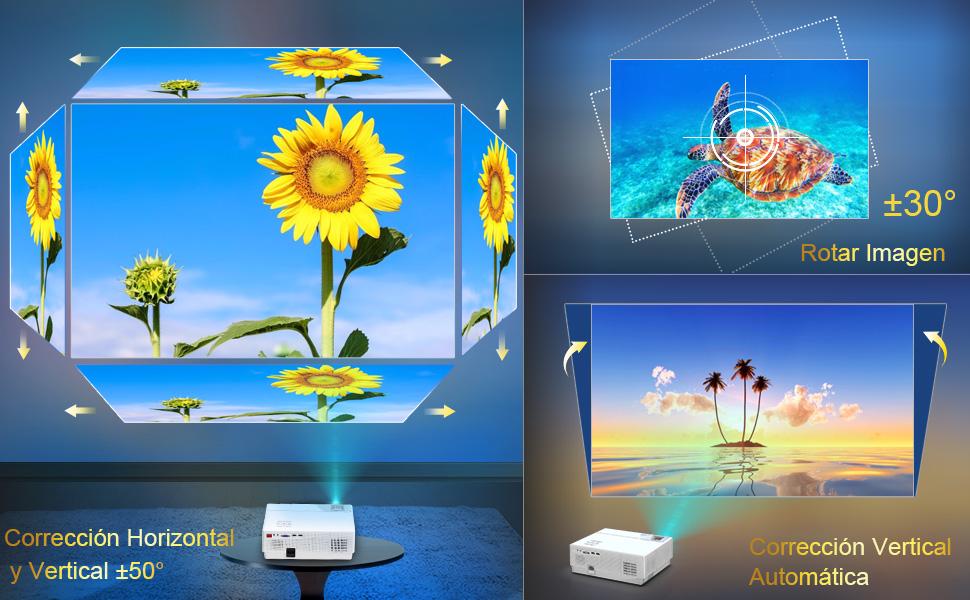 Proyector, WiMiUS 6800 Lúmenes Proyector Full HD 1920x1080P ...