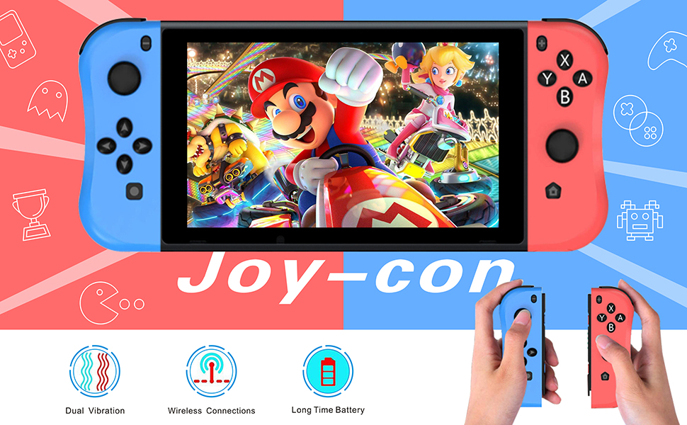 Joy Con Controller Replacement Campatiable for Nintendo Switch