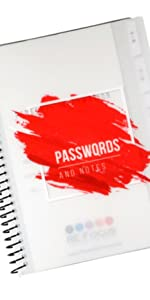 Mini Red Password Keeper Book in 11 different versions: Large, Mini, Left Handed, amp; Camouflage