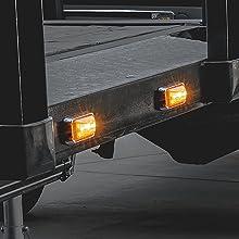 "2.5"" Rectangular Clearance LED Amber"