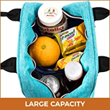 double decker compartmentalized large lunch bag