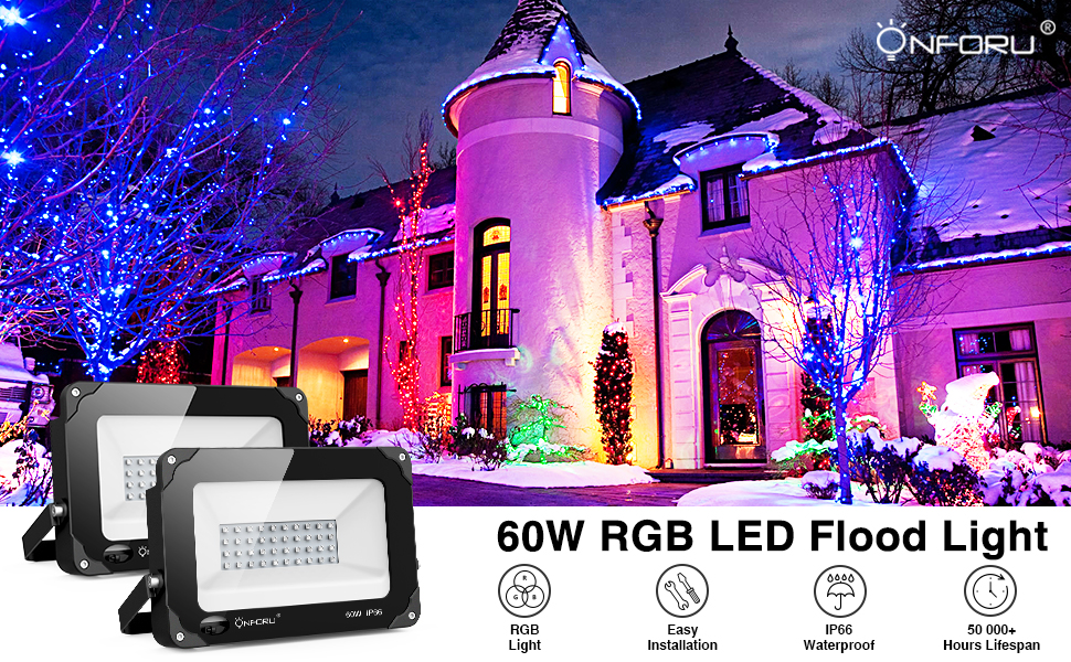 60w RGB Flood Light banner