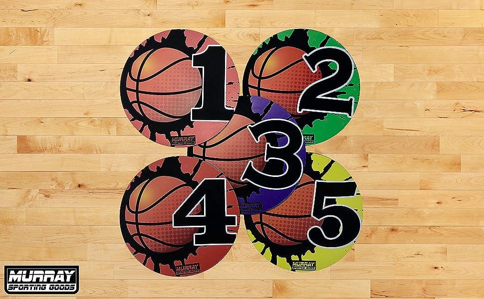 Murray Sporting Goods Basketball Shot Markers, Shot of 5 - Basketball Training Aid