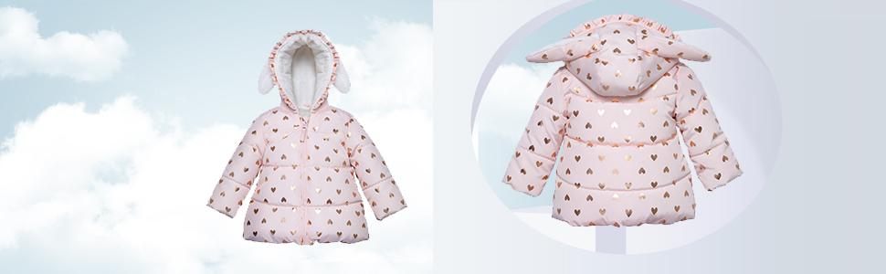 baby girls puffer coat down jacket toddler