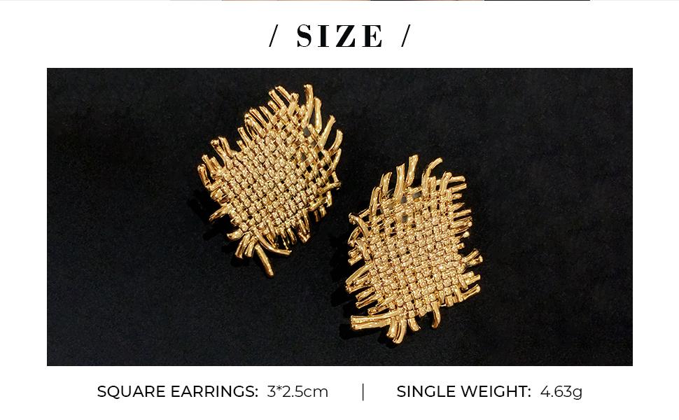 statement woven earrings