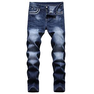 straight slim skinny jeans men regular designer ripped fit destroyed distressed biker moto blue