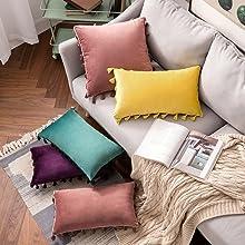 boho tassels throw pillows cushion case