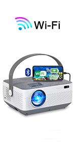 Wifi projector bluetooth video projector