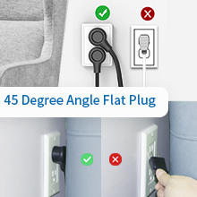 flat plug power strip
