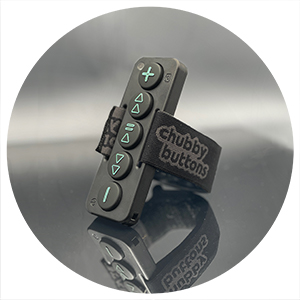 Chubby Buttons 2- Product Shot Portrait.  The wearable/stickable bluetooth remote for action sports