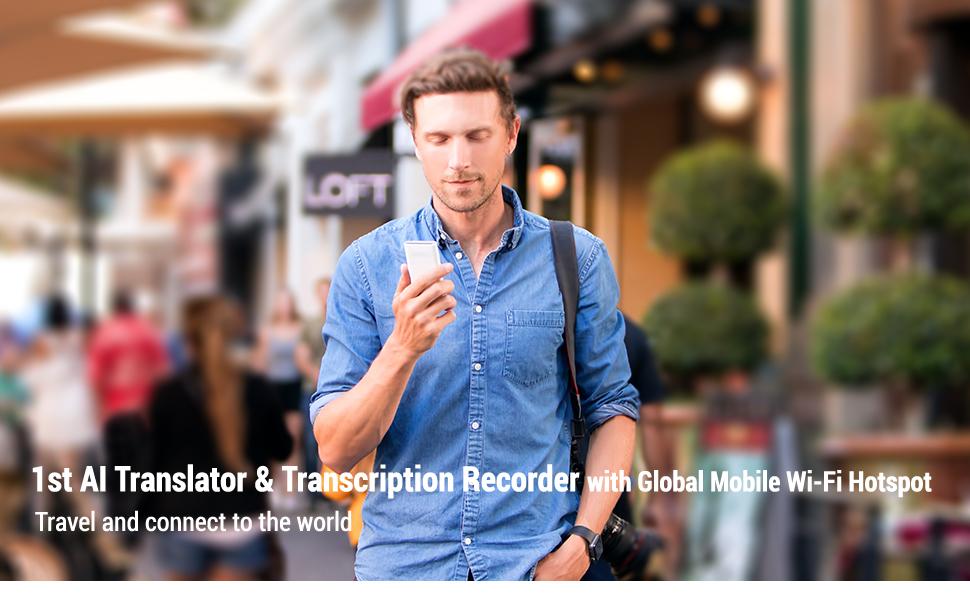 first voice translator with global mobile Wi-Fi hotspot, electronic translator device