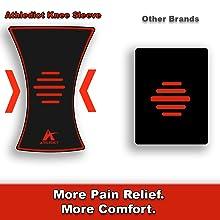 knee compression sleeve anatomical shape support weightlifting jiu jitsu wrap strap x tendonitis fit