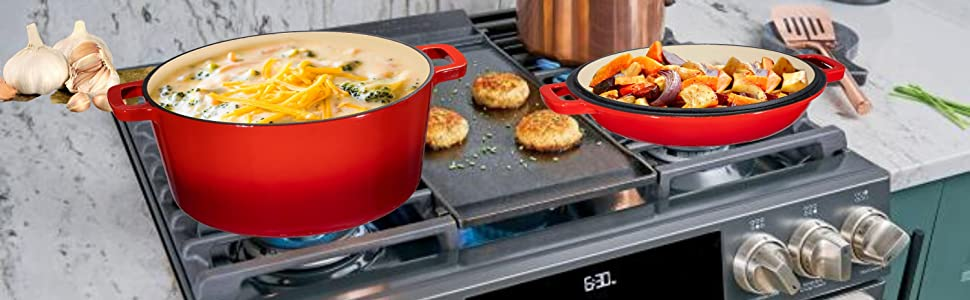 frying pan double dutch oven baking bread dish bakeware