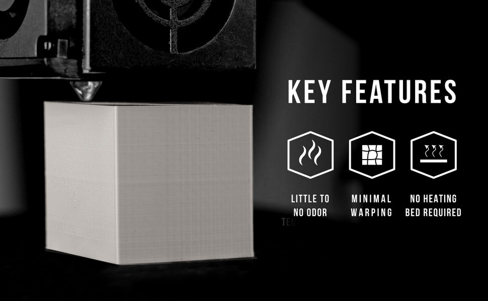 abs key features include strong and durable, easy to use and higher temperature resistance than pla