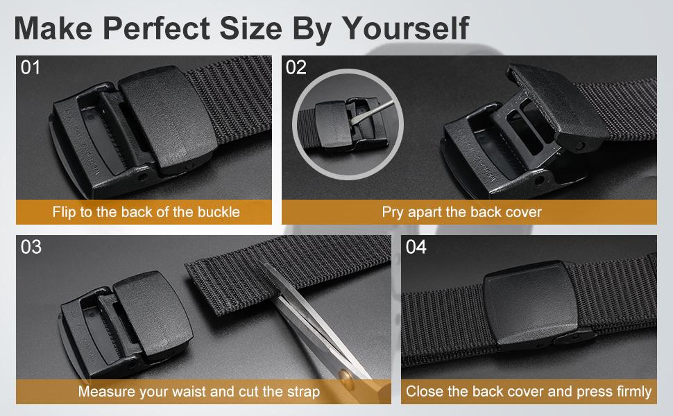 adjustable no holes men belt