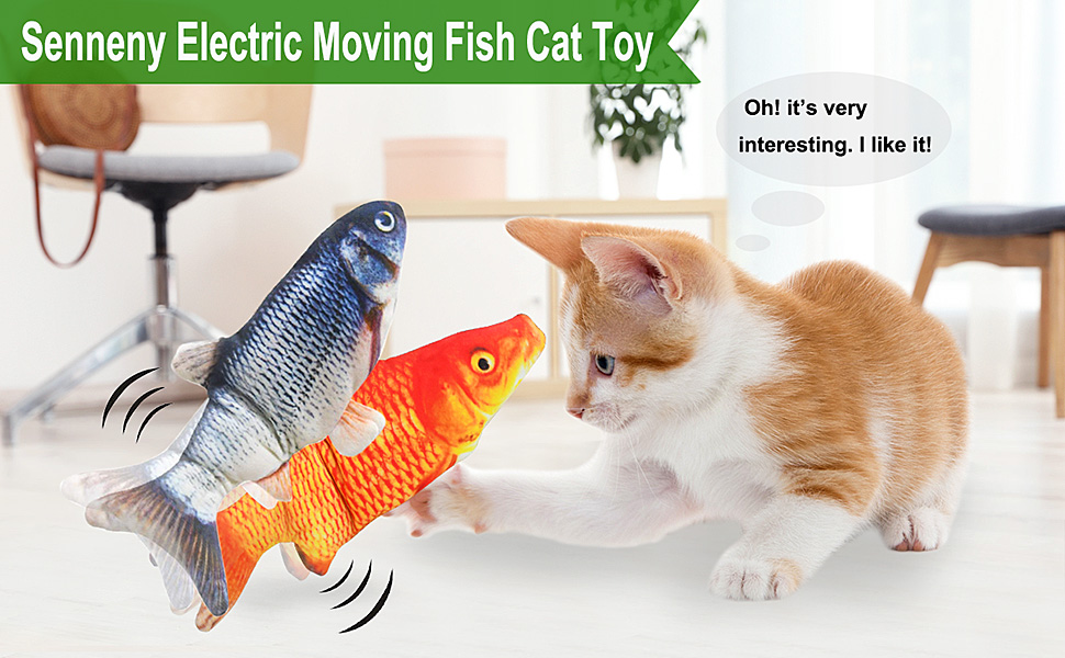 electric fish cat toy