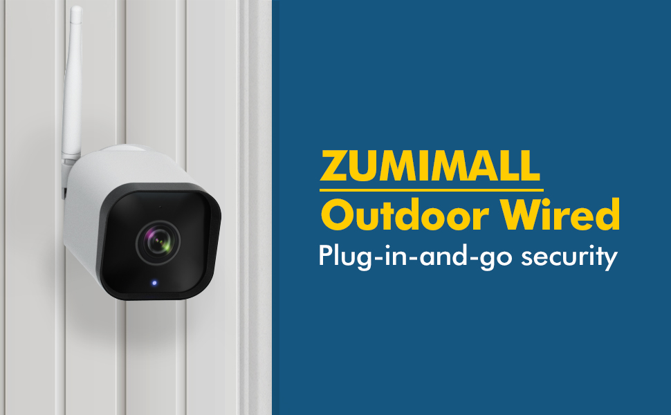 outdoor security camera wired