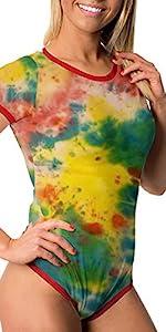 Tie Dye Onesie abdl snap crotch jumpsuit romper