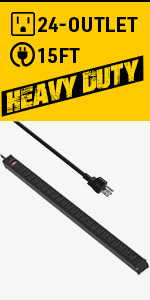 24 outlets metal power bar UL