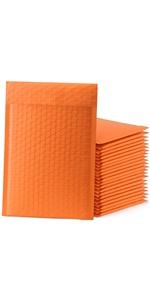 Orange bubble mailers