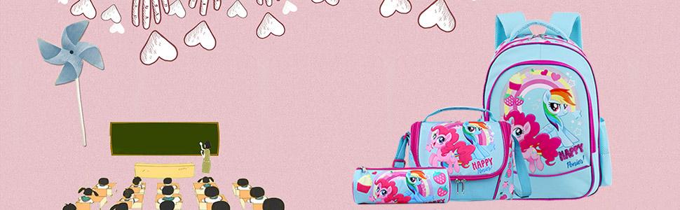 Mochilas Escolares Infantiles Mochila Niña Colegio Casual Mochila Ligero Escuela Bolsa Lindo Printing Viajes Mochilas para Las Niños (1PCS=15L ...