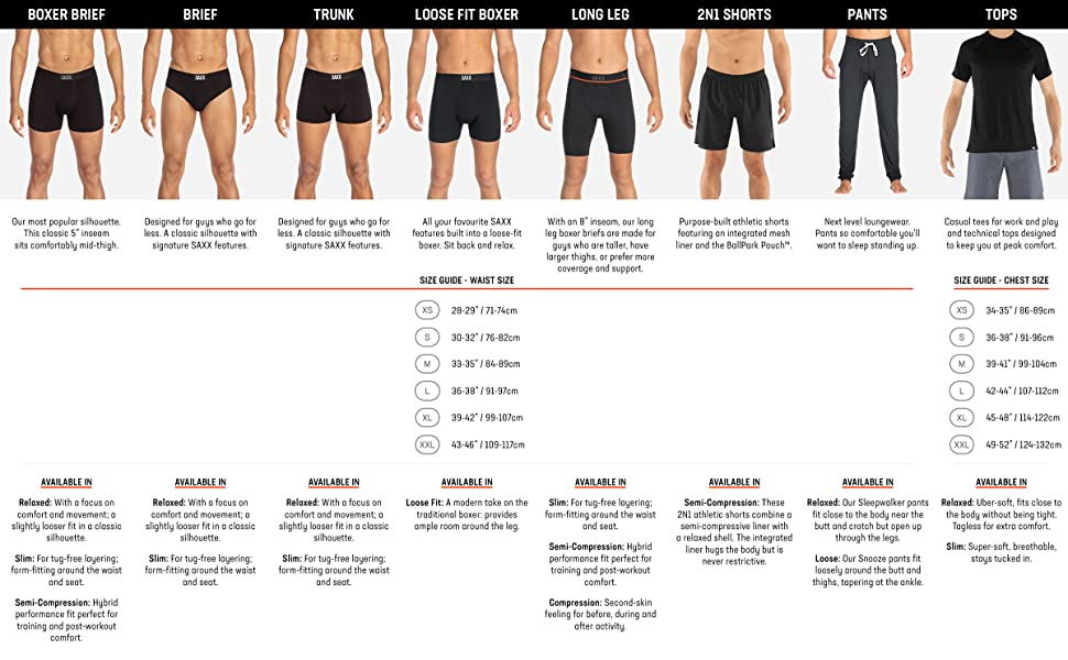 SAXX product men's underwear boxer briefs sport workout everyday comfy cotton pack basic pouch trunk