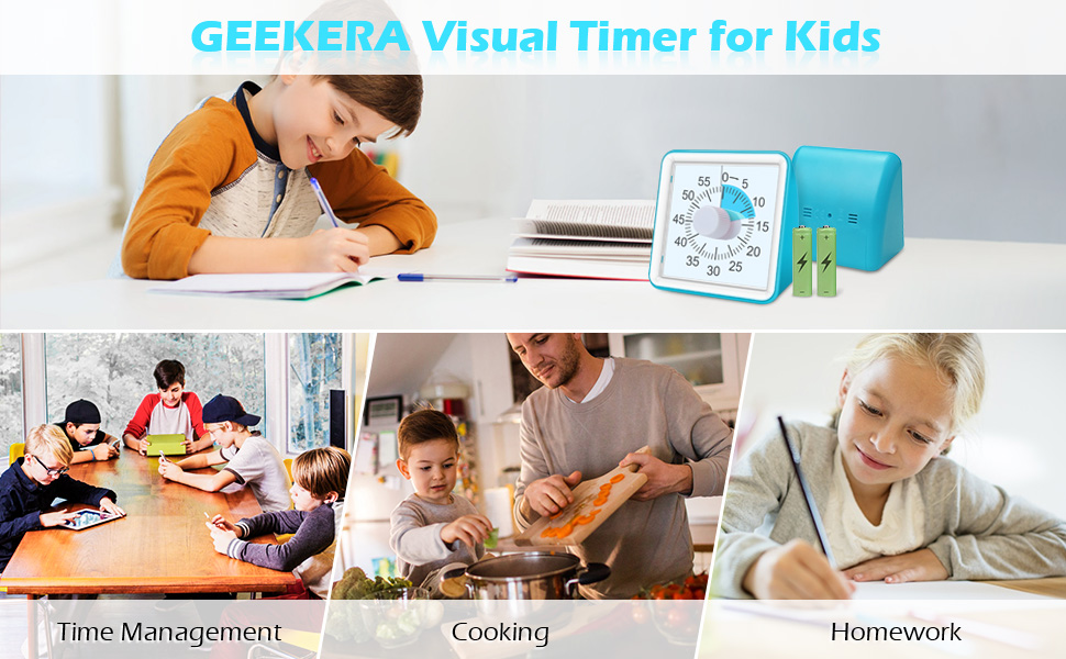 Visual Timer for Kids,Time management tool for the classroom, office, home
